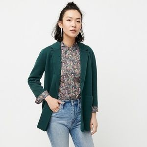 J. Crew Sophie Open-Front Sweater-Blazer Green XL